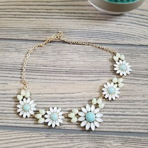 Baublebar Blue Flowers Chunky Necklace